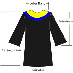 Size Chart Ukuran Baju Toga Wisuda Mahasiswa