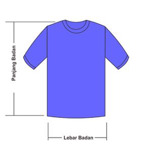 Size Chart Ukuran Kaos