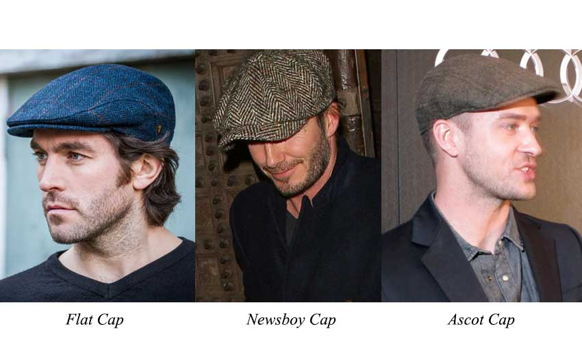 Jenis Topi Ascot Flat Cap Newsboy