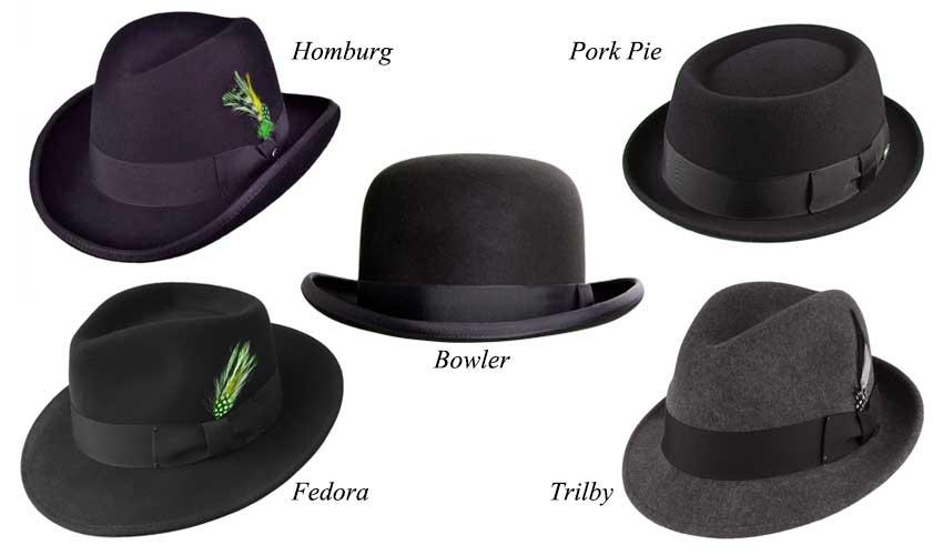 Jenis Topi Bowler-Fedora-Porkpie-Homburg-Trilby